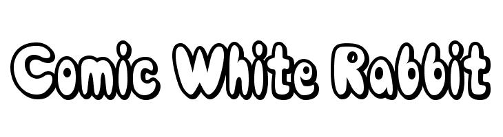 Comic White Rabbit  Free Fonts Download