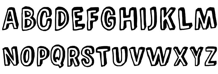 ComicZineOT Font UPPERCASE