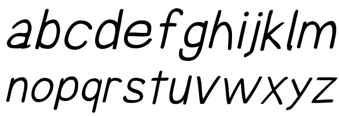 Comica Regular Italic Font LOWERCASE