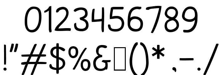 Comica Regular Font OTHER CHARS