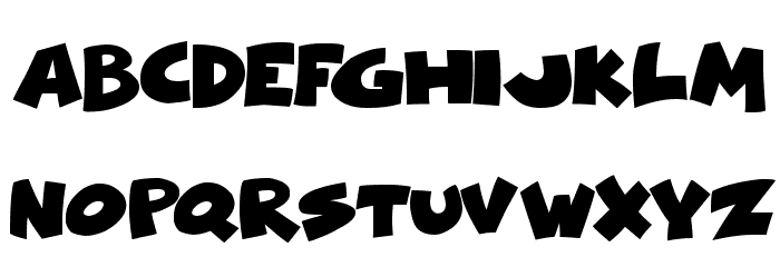 Comical Cartoon Font LOWERCASE