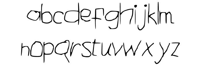 ComicalTypewriter Шрифта строчной