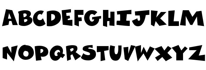 Comics Regular Font UPPERCASE