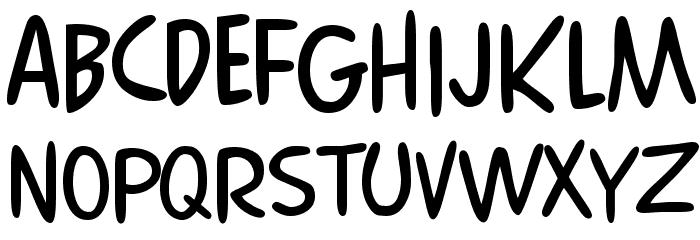 Comics Regular Font LOWERCASE