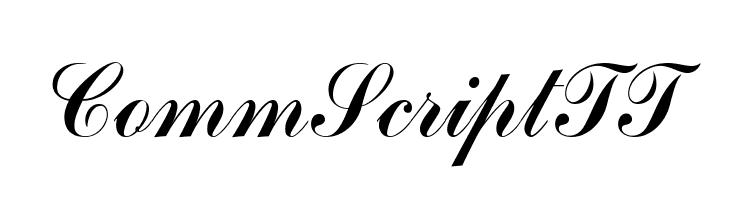 CommScriptTT  Free Fonts Download