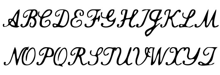 Commercial Script Font Litere mari