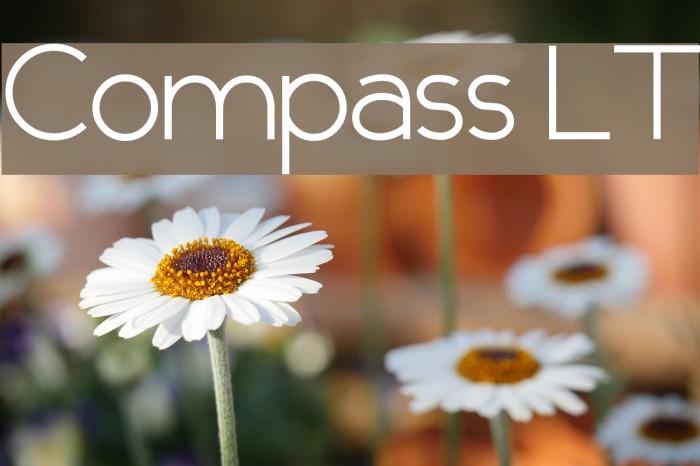 Compass LT Font examples