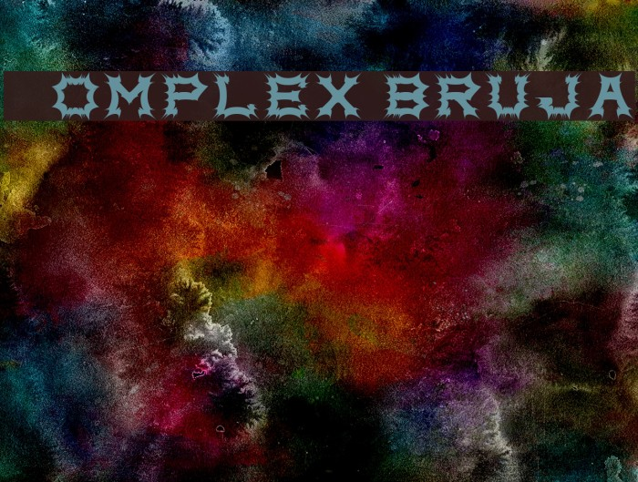 Complex bruja Fonte examples