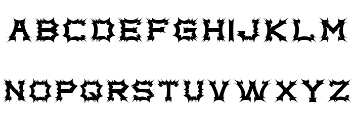 Complex bruja Font LOWERCASE