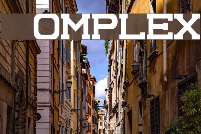 Complex Font examples