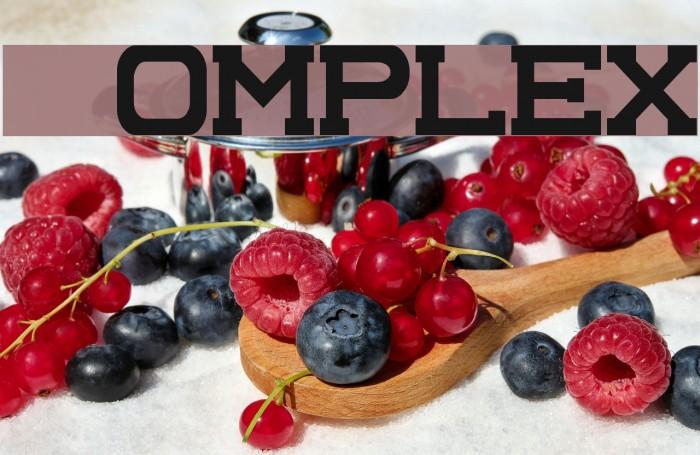 Complex Fonte examples