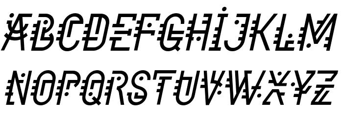 Component Italic Font Litere mari