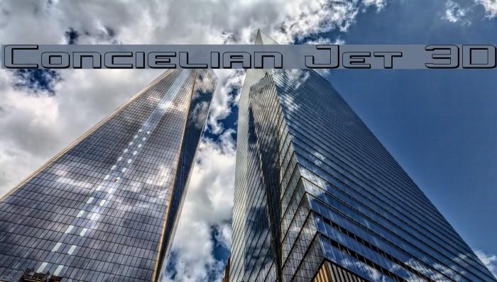Concielian Jet 3D Font examples