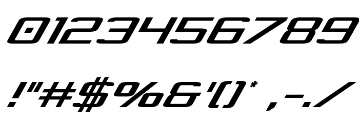 Concielian Jet Condensed Italic Font OTHER CHARS