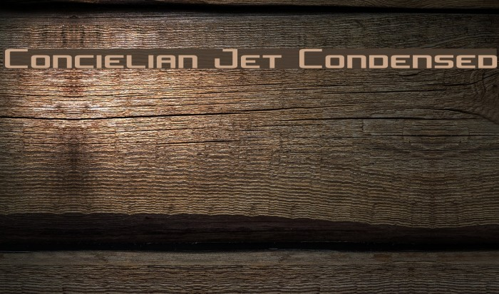 Concielian Jet Condensed Font examples