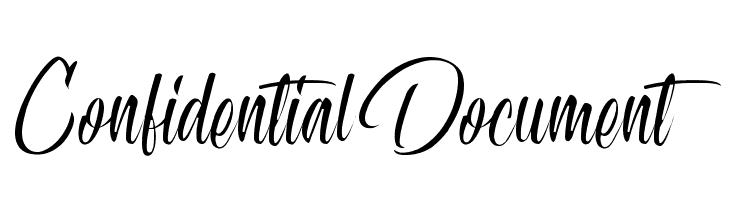 Confidential Document  नि: शुल्क फ़ॉन्ट्स डाउनलोड