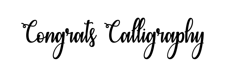Congrats Calligraphy  Free Fonts Download