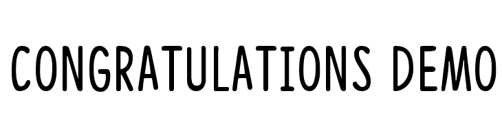 Congratulations DEMO  Free Fonts Download