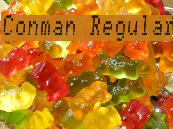Conman Regular Font examples