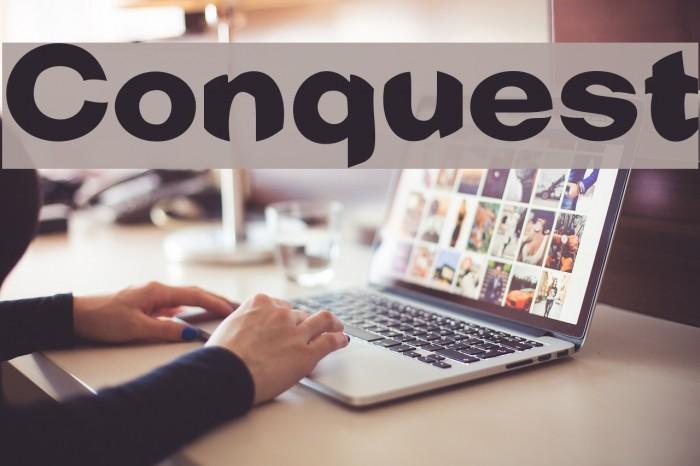 Conquest Font examples