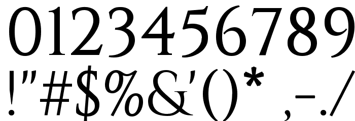 Constantine Font OTHER CHARS