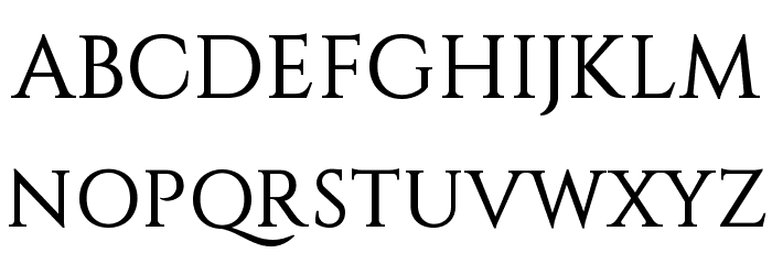 Constantine Font UPPERCASE