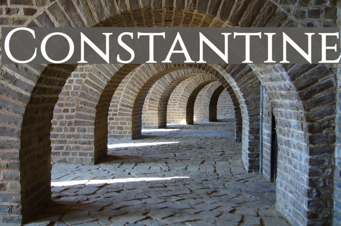 Constantine Font examples
