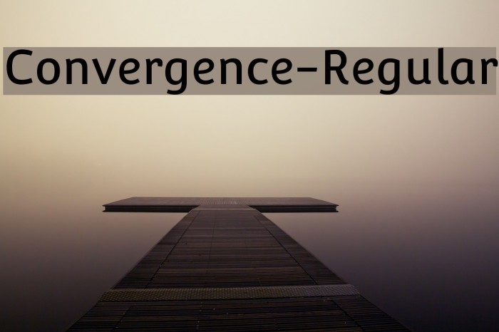 Convergence-Regular Font examples