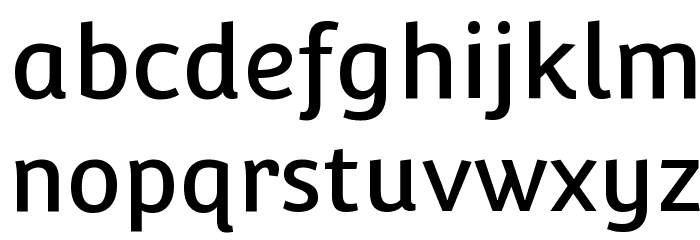 Convergence-Regular Font LOWERCASE