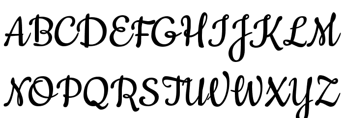 Cookie-Regular Font UPPERCASE