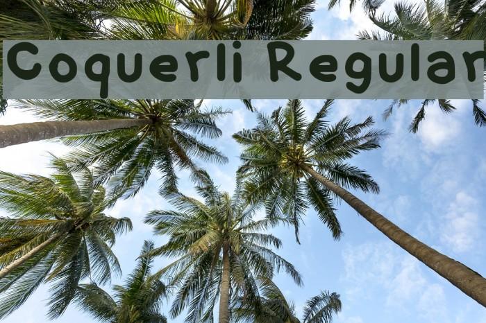 Coquerli Regular Font examples