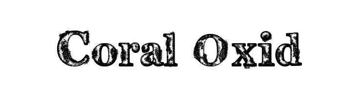 Coral Oxid  Free Fonts Download