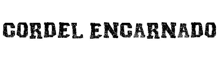 Cordel Encarnado Font - free fonts download