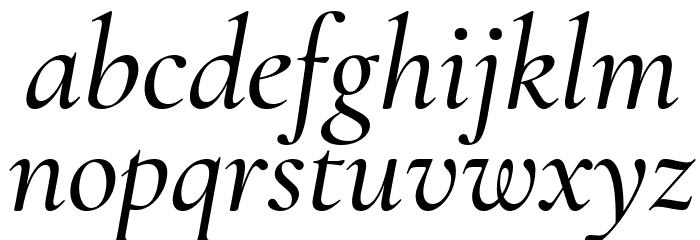 Cormorant Garamond Medium Italic फ़ॉन्ट लोअरकेस