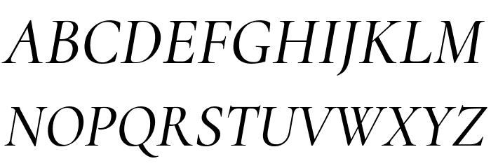 Cormorant Medium Italic フォント 大文字