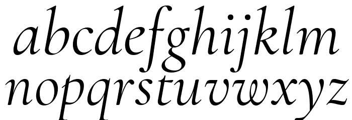 Cormorant Regular Italic Font LOWERCASE