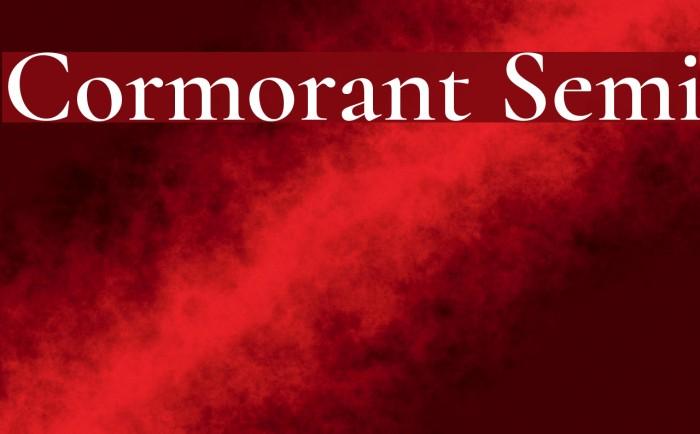 Cormorant Semi Font examples