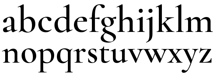 Cormorant Semi Font LOWERCASE