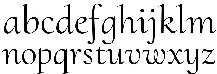 Cormorant Upright Font LOWERCASE