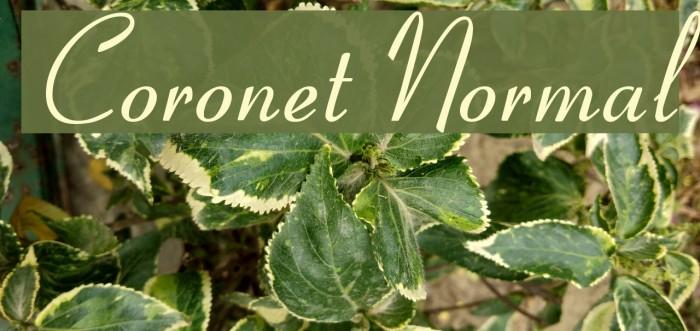 Coronet Normal Шрифта examples