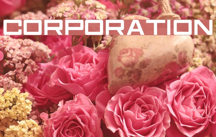 Corporation Schriftart examples