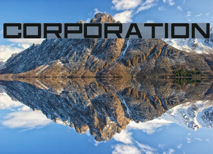 Corporation Font examples