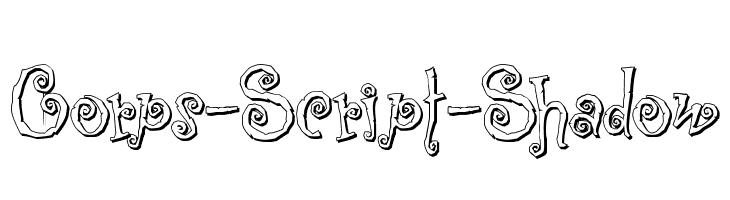 Corps-Script-Shadow  नि: शुल्क फ़ॉन्ट्स डाउनलोड