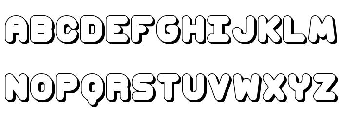 Corpulent Caps Shadow BRK Font UPPERCASE
