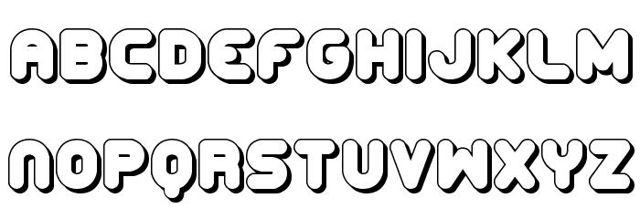 Corpulent Caps Shadow BRK Font LOWERCASE