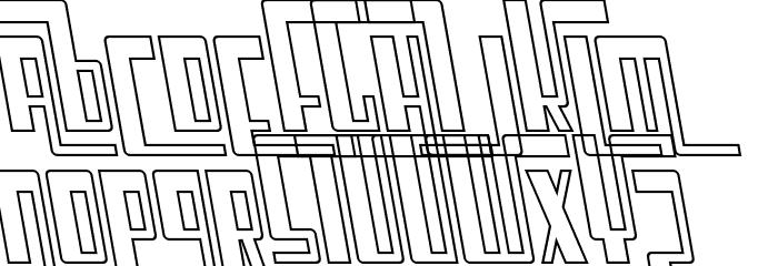 Cosmic Age Outline Italic Fonte MAIÚSCULAS