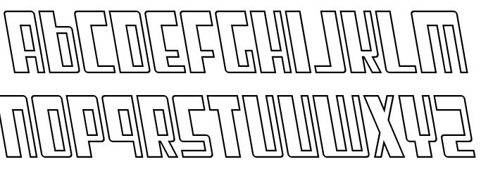 Cosmic Age Outline Italic Fonte MINÚSCULAS