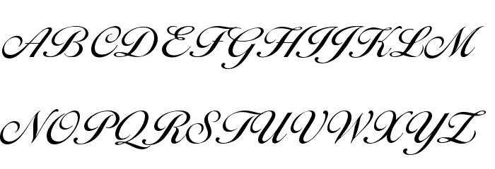 Cotillion Regular Font UPPERCASE
