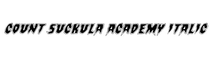 Count Suckula Academy Italic  font caratteri gratis