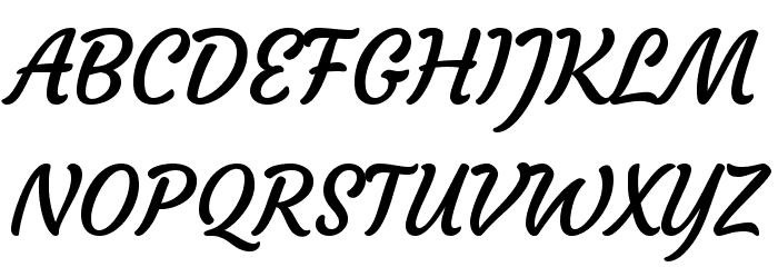 Courgette Regular Font UPPERCASE